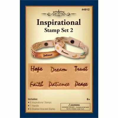 Realeather Crafts Inspirational Stamp Set, No.2 - Leathercraft Kit Set 2
