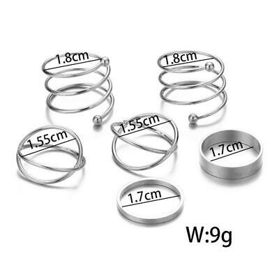 Bohemian Vintage Women Crystal Joint Knuckle Nail Ring Set of  Y