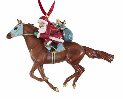 Breyer Christmas 2018 W700650 Off to the Races! Ornament NIB exceptional<><