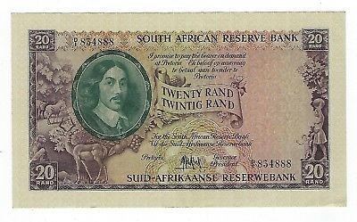South Africa Large 20 rand 1961 XF. JO-6024