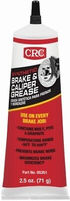 CRC 05351 Brake & Caliper SLIDE PIN Synthetic Grease  2.5 Wt Oz New NO NOISE