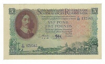 South Africa 5 Pounds 1956 Unc. JO-6040