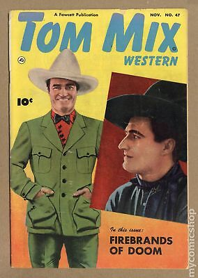 Tom Mix Western (Fawcett) #47 1951 VG- 3.5