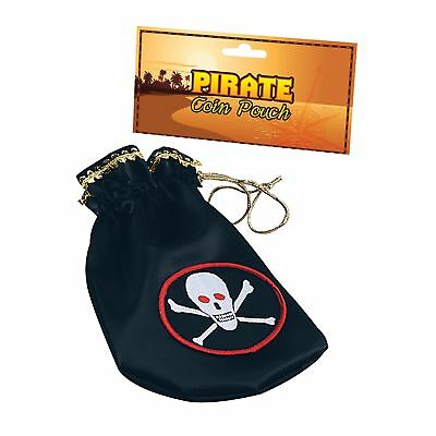 DELUXE PIRATE GOONIES COIN POUCH BAG - mens womens fancy dress accessory