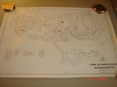 Vintage 1959 and 1976 Town of Marblehead, Massachusetts Maps
