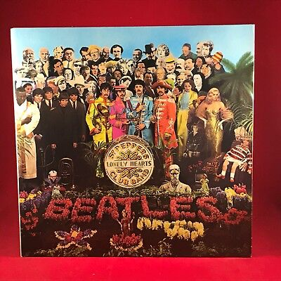 THE BEATLES Sgt. Pepper's Lonely Hearts Club Band 1970s UK issue VINYL LP EXCELL