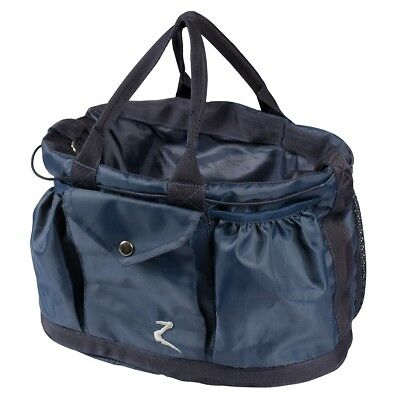 Horze Navy Large Spacious Brush Pick Comb Accessory Carry All Grooming Tote Bag
