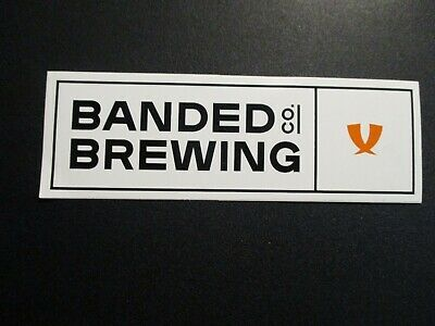 BANDED BREWING veridian daikaiju maine wht rect STICKER decal craft beer brewery