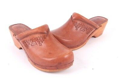 94be8ac94ee68 VTG 70S THOM Mcan Woodworks Leather Slides Mules Shoes Womens Size 7.5