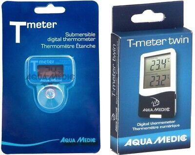 AquaMedic T Meter & T Meter Twin Aquarium Fish Tank Digital Stick on Thermometer