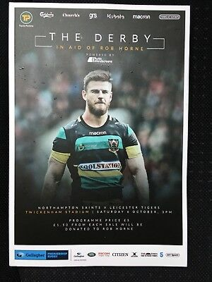 NEW THE DERBY NORTHAMPTON SAINTS v LEICESTER TIGERS Rugby Programme £5 6/10/2018