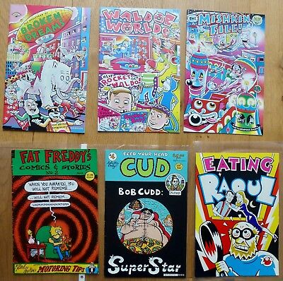 6 x RARE USA/UK UNDERGROUND COMIX SHELTON DEITCH DUTCH OZ MAGAZINE ADULTS ONLY!
