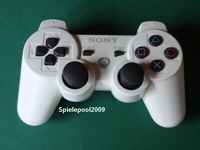 1 original Sony Playstation 3 Dualshock 3 white weiss  Controller PS3