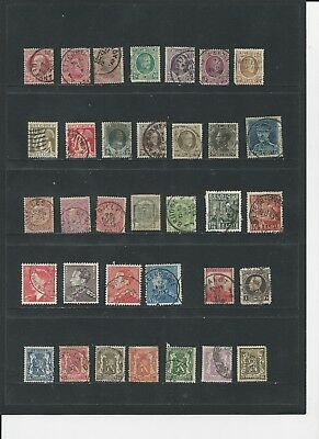 BELGIUM - COLLECTION OF USED STAMPS (3 SCANS) - #BEL2abc