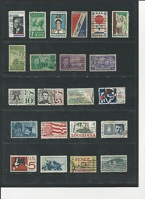 USA - COLLECTION OF USED STAMPS (4 SCANS) - #USA32abcd