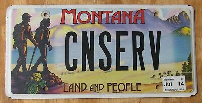 MONTANA LAND and PEOPLE specialty license plate  2014    CONSERVE / CNSERV