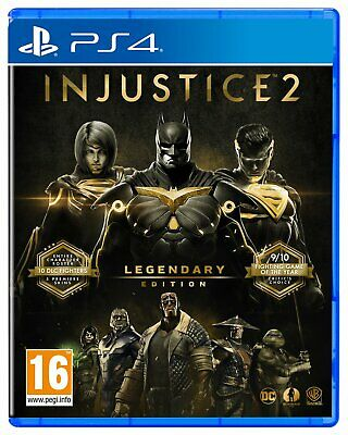 Injustice 2 Legendary Edition Sony Playstation PS4 Game 16+ Years
