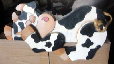 Hand Painted Cow Shelf Sitter