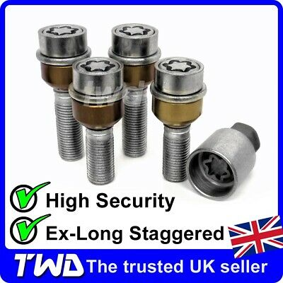 WHEEL LOCKING BOLTS - PORSCHE + 7MM & 15MM SPACERS ALLOY STAGGERED LUG NUT [PSe]