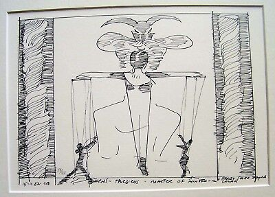 CHARLES BLACKMAN: ATHENS - THESIUS - MASTER of MINOTAUR 1982. SIGNED DATED COA