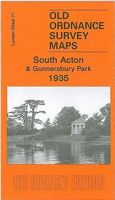 Old Ordnance Survey Map South Acton & Gunnersbury Park 1935