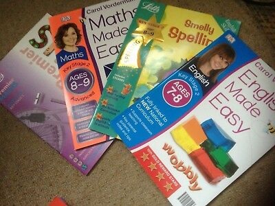 11 x MATHS ENGLISH KS2 PRACTICE REVISION BOOKS AGE 7 - 9 KEY STAGE 2 YEAR 3 & 4