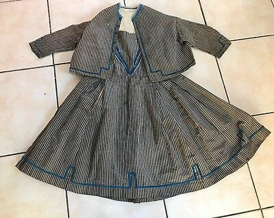 Antique Silk & Velvet Original Victorian Edwardian Child's Girls Dress & Jacket
