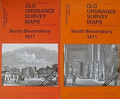 Old Ordnance Survey Maps North & South Bloomsbury London 18701Large Scale Maps