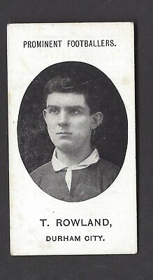 Taddy - Prominent Footballers (No Footnote) - T Rowland, Durham City