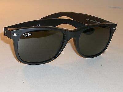 RAY BAN RB2132 55  18M MATTE BLACK G15 UV GLASS LENS WAYFARERs SUNGLASSES w ac8a42fe584d