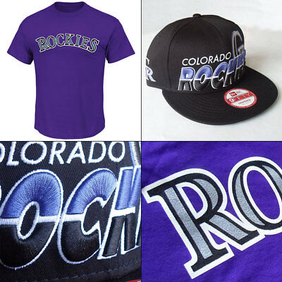 Colorado Rockies Licenced Logo Tee + New Era 9FIFTY Cap Small/Medum