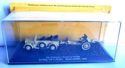 TANK Kfz.15 Horch + 10.5cm le FH18M Kursk (USSR) - 1943 Scala 1:72 SCA111