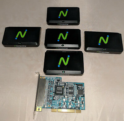 NComputing X550 5 User Desktop Virtualization Kit  (PCI Card + 5 Terminals only)