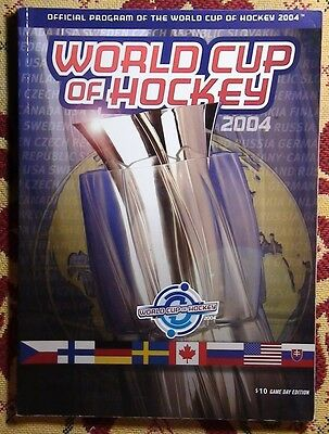 The program of the world Cup of hockey, Canada-2004
