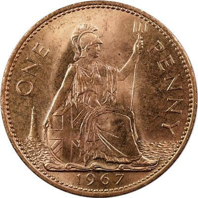 Great Britain - Penny - 1967 - Bronze - Unc