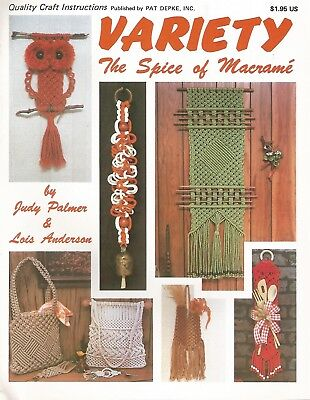 Variety The Spice of Macrame Judy Palmer Instruction Pattern Book 1978 NEW