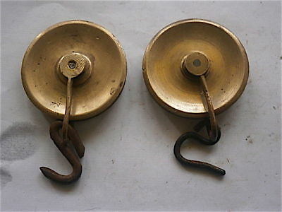 Pair Of  Longcase Grandfather Clock  Line Spools    C1750