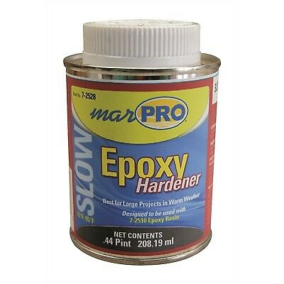 BOAT MARINE FIBERGLASS RESIN SLOW EPOXY HARDNER .44 Pint MARPRO 7-2528 WEST 206A