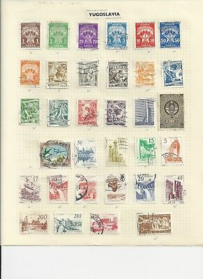 JUGOSLAVIA - COLLECTION OF USED STAMPS (2 SCANS) - #JUG1ab