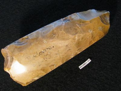 5900Y.O: EARLIEST POLISHED AX 126mms FOUND 1951 DANISH STONE AGE NEOLITHIC FLINT