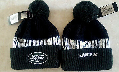 ac0a3b4c95e NEW YORK JETS Youth Hat NFL Knit Cap Beanie Pom Warm Embroidered Logo  Darnold