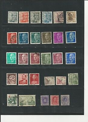 SPAIN - COLLECTION OF USED STAMPS (2 SCANS) - #SPA2ab