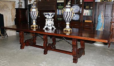 """Antique Style Country French 12 Ft Hardwood Dining 2"""" thick Top Table Seats 12"""