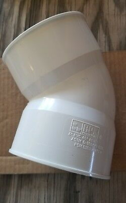 """4"""" PVC 45 Degree Elbow Bend Pipe Fitting GPK 221-0004 Lot of 4"""
