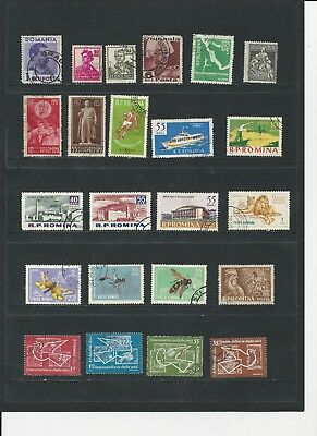 ROMANIA - COLLECTION OF USED STAMPS (6 SCANS) - #ROM6abcdef