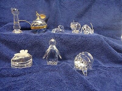 Swarovski crystal - Lot of 8: *** look closely because all have some damage...