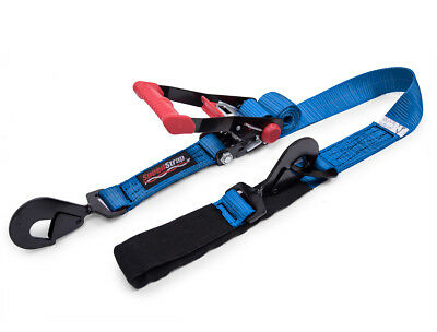 Speed Strap 2″ x 8′ Rachet Tie Down w/ Twisted Snap Hooks Axle Strap Combo Blue