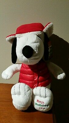 Macy S Holiday 2015 Peanut Snoopy Plush Red Hat And Jacket Nwt