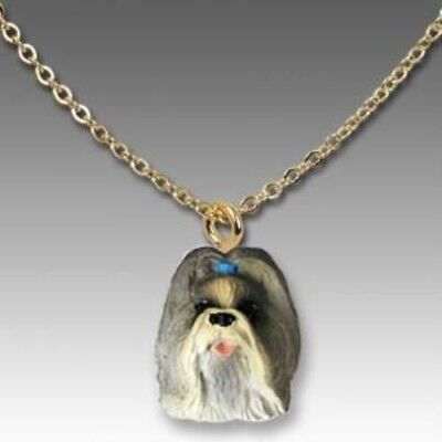 Dog on Chain SHIH TZU MIXED COLOR Resin Dog Necklace Jewelry Pendant CLEARANCE