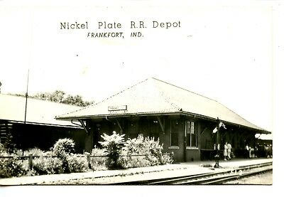 Nickel Plate Railroad Depot Station-Frankfort-RPPC-Vintage Real Photo Postcard